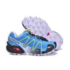 Salomon Speedcross 3 голубой с желтым